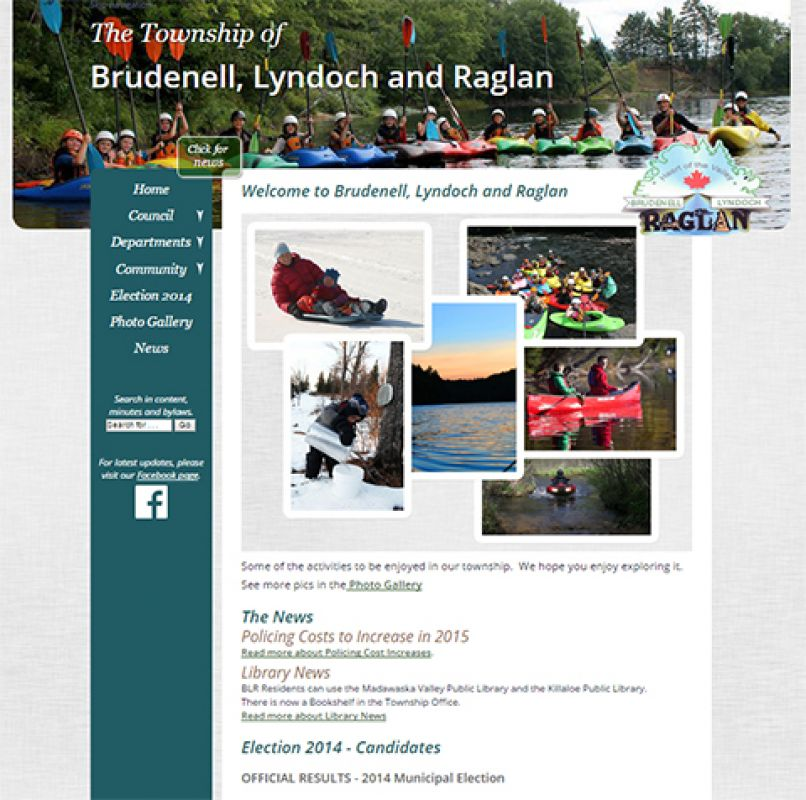 Home page of The Township of Brudenell, Lyndoch and Raglan website