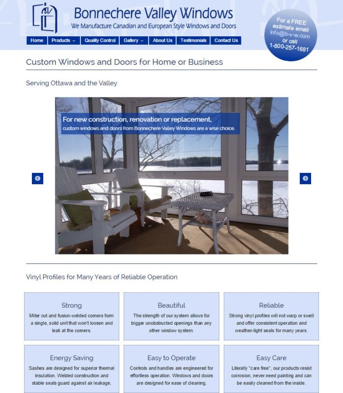 Bonnechere Valley Windows home page