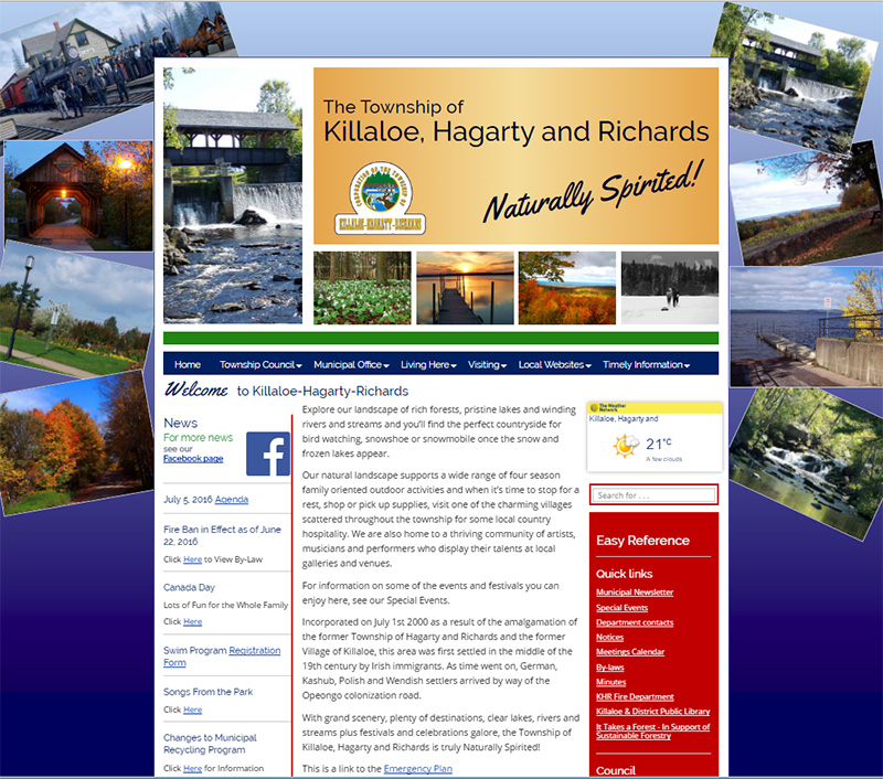 killaloe-hagarty-richards.ca home page