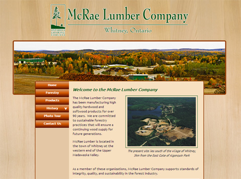 McRae Lumber Company home page