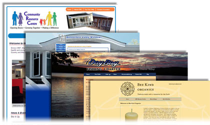 Several attractive website home page examples