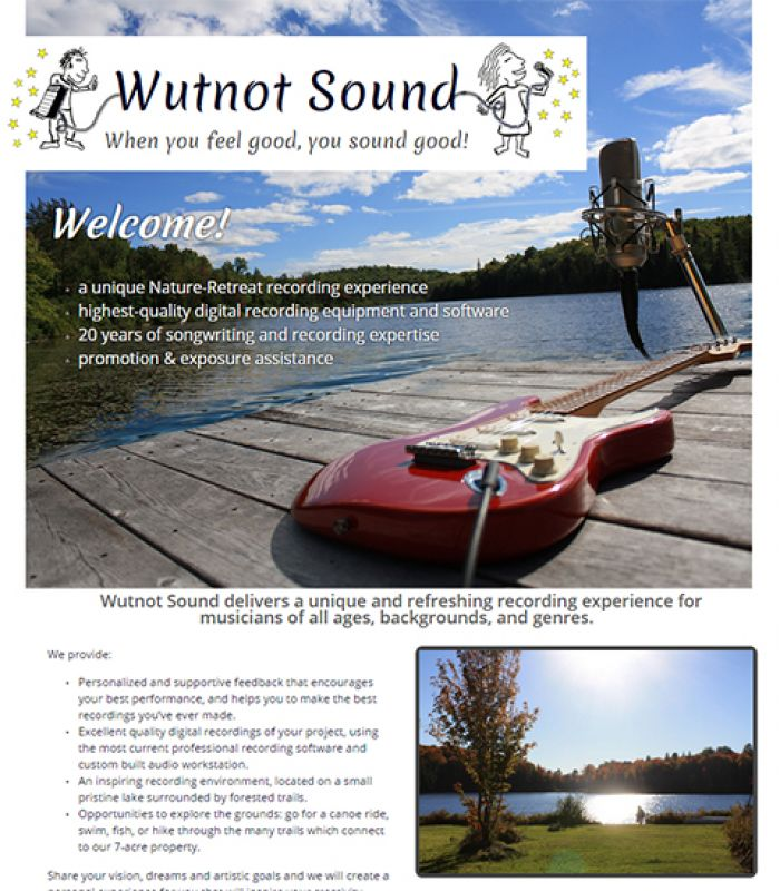 Home page of Wutnot Sound